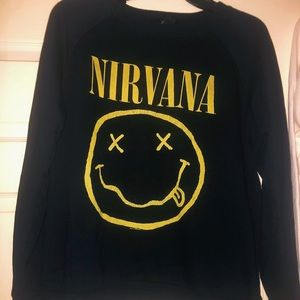 Nirvana logo sweater